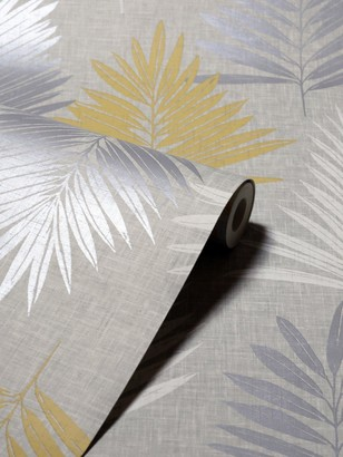 Arthouse Linen Palm Wallpaper