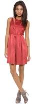 Rebecca Taylor Sleeveless Textured Satin Dress