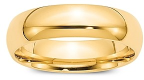 Bloomingdale's Men's 6mm Comfort Fit Band Ring in 14K Yellow Gold - 100% Exclusive