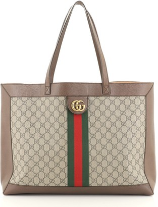 Gucci Ophidia Soft Open Tote GG Coated Canvas East West