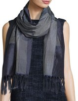 Eileen Fisher Ikat Boulevards Silk Scarf, Midnight