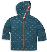 Hatley Toddler's, Little Boy's & Boy's Tiny Whales Splash Jacket