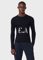 Emporio Armani Ribbed Sweater With Digital Logo