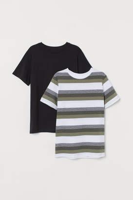 H&M 2-pack T-shirts - Green