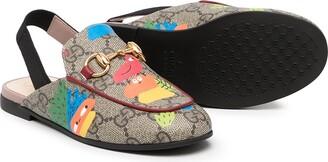 Gucci Children Monogram-Print Slingback Sandals