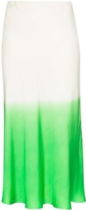 Carcel Gradient-Dyed Silk Midi Skirt