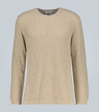 Nanushka Open knit crewneck sweater