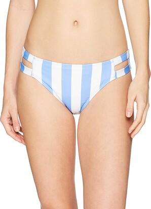 Mae Amazon Brand Women's Swimwear Double Strap Hipster Classic Coverage Bikini Bottom