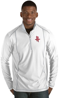 Antigua Men's Houston Rockets Tempo Quarter-Zip Pullover