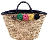 San Diego Hat Company Women's Pom Seagrass Tote BSB1714