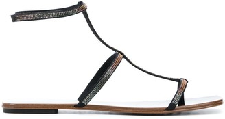 Pedro Garcia Keety embellished flat sandals