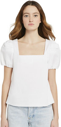 Alice + Olivia Bernice Puff Sleeve Top
