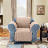 Sure Fit Quilted Suede Chair Pet Cover