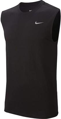 Nike Big Tall Dry Tee Training Sleeveless Solid (Black/Matte Silver) Men's Clothing