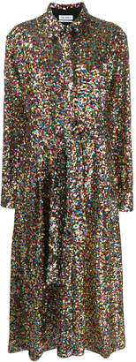 ATTICO sequin embellished shirt dress