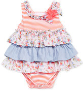 Bonnie Baby Mixed-Print Tiered Dress, Baby Girls (0-24 months)