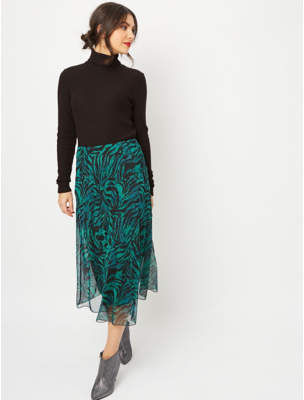 George Green Topical Mesh Overlay Skirt