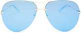 Christopher Kane Aviator metal sunglasses