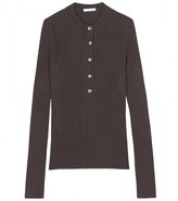 Chloé RIBBED KNIT HENLEY PULLOVER