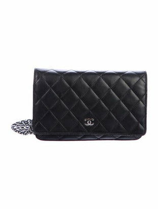 Chanel Classic Quilted Wallet On Chain Black