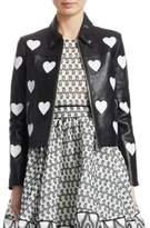 Maje Heart Leather Jacket