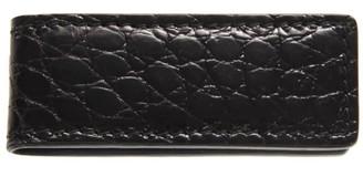 Dolce & Gabbana Black Crocodile Leather Money Clip