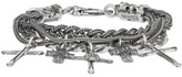 Emanuele Bicocchi Silver Cross Charm Bracelet