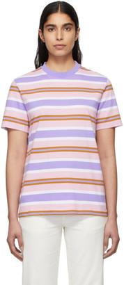 Noah NYC Pink Surf Stripe T-Shirt