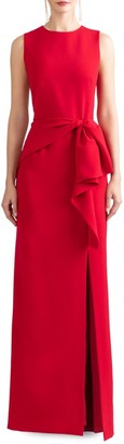 Shoshanna Angie Knot Slit Dress