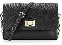 GiGi New York Women's Catherine Snake-Embossed Leather Crossbody