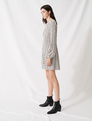Maje Scarf-style pleated mini dress
