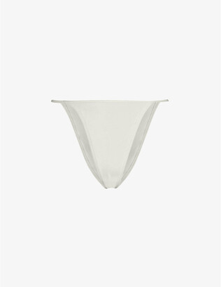 SKIMS Breathable Ladies Cream Cotton Kim Kardashian West String Bikini, Size: XXXL