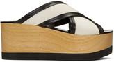 Isabel Marant Ecru Zerry Wedge Sandals