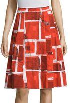 Piazza Sempione Square Printed Skirt
