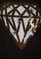 Lauren Moshi April Mini Diamonds Oversized Tee