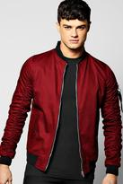 Boohoo Cotton MA1 Bomber with Parachute Sleeves