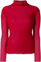Twin-Set sheer turtleneck sweater - women - Polyamide - XXS