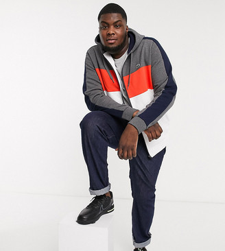 Lacoste PLUS color block hooded jacket