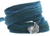 Catherine Michiels Zinnia Silver Charm & Silk Bracelet Wrap