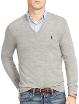 Polo Ralph Lauren Stretch Merino Slim Fit V-Neck Sweater