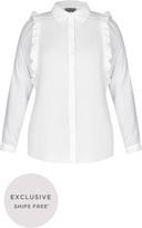 City Chic Girly Frill Shirt