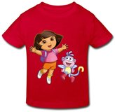 Stabe 2-6 Toddler Tee Age 2-6 Kids Toddler Dora The Explorer Little Boy's And Girl's T-Shirt