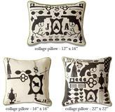 Jonathan Adler -collage pillows by jonathan adler
