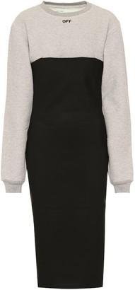 Off-White Cotton-blend midi dress