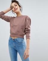 Asos Oversized Cropped Sweatshirt