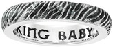 King Baby Studio Slashed Texture Stackable Ring Ring