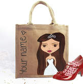 Hurley Sarah Hand Painted Personalised Wedding Dollybelles Tote Bag