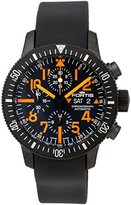 Fortis Limited Edition B-42 Black Mars 500 Automatic Chrono Mens Watch Calendar 638.28.13.K