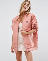 adidas Oversized Quilted Bomber Jacket