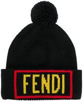 Fendi appliqué knitted beanie